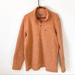 Eddie Bauer Orange Quarter-Zip Sweater